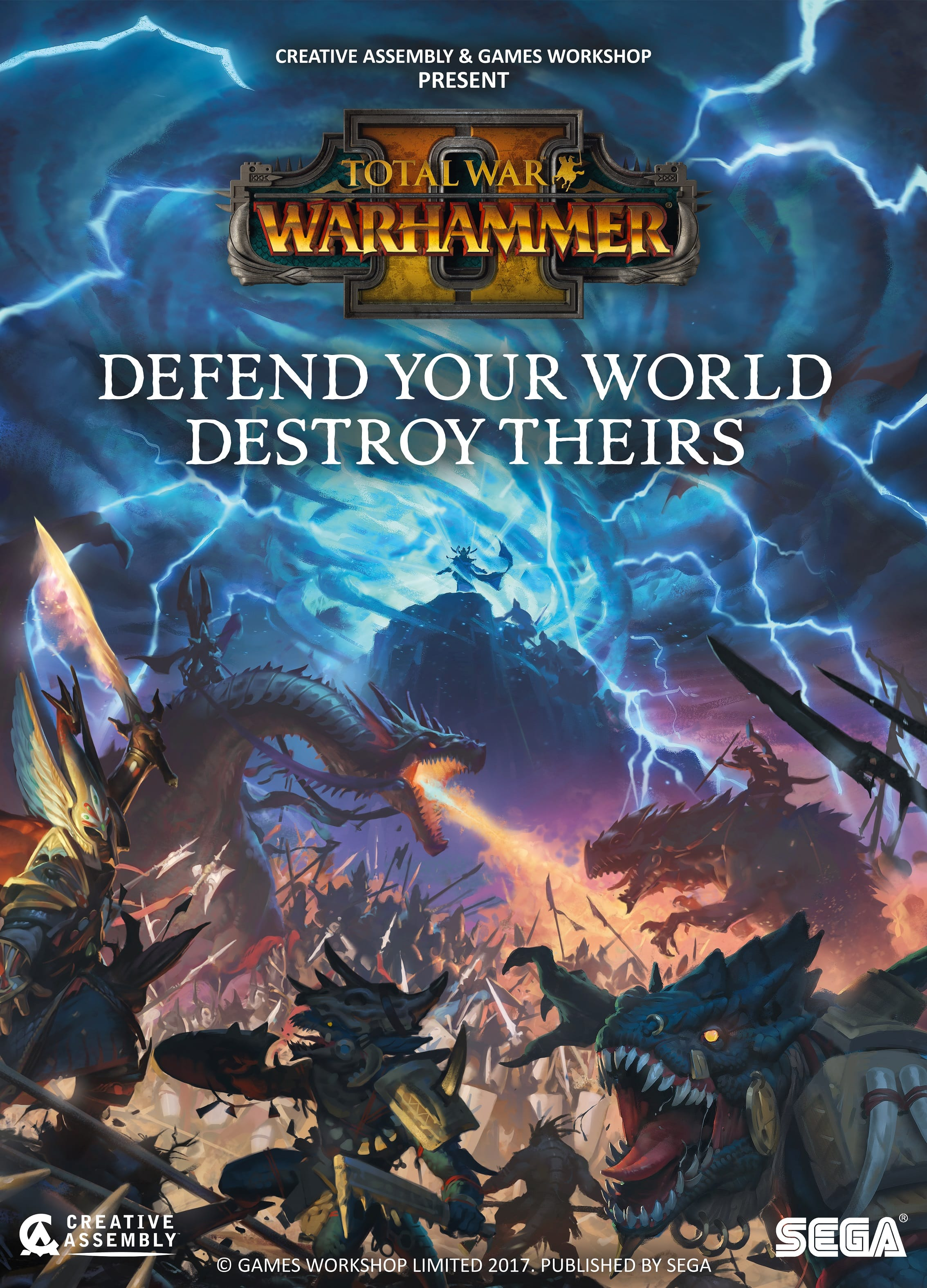 The WARHAMMER II Key Art Poster - Total War