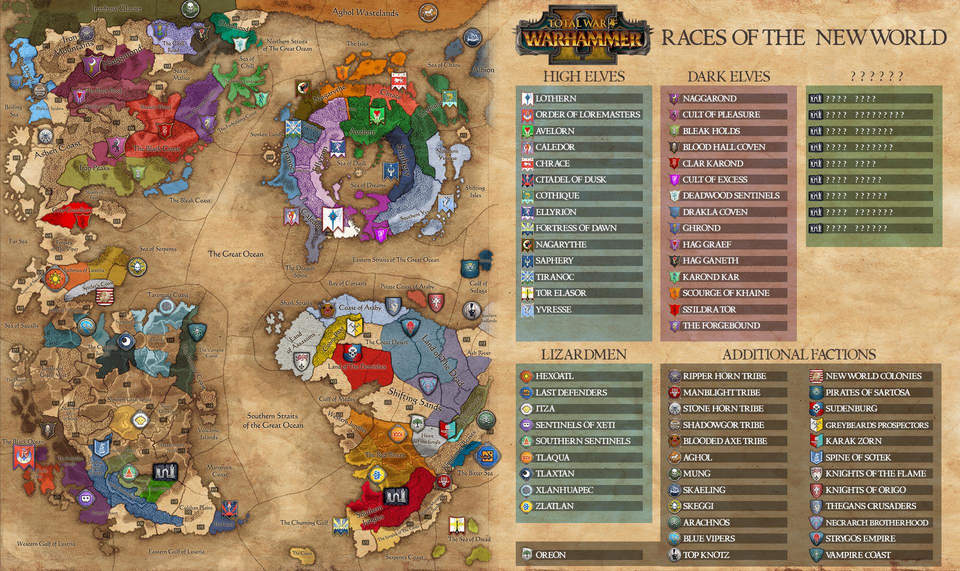 Desvelado el Mapa de Total War Warhammer II