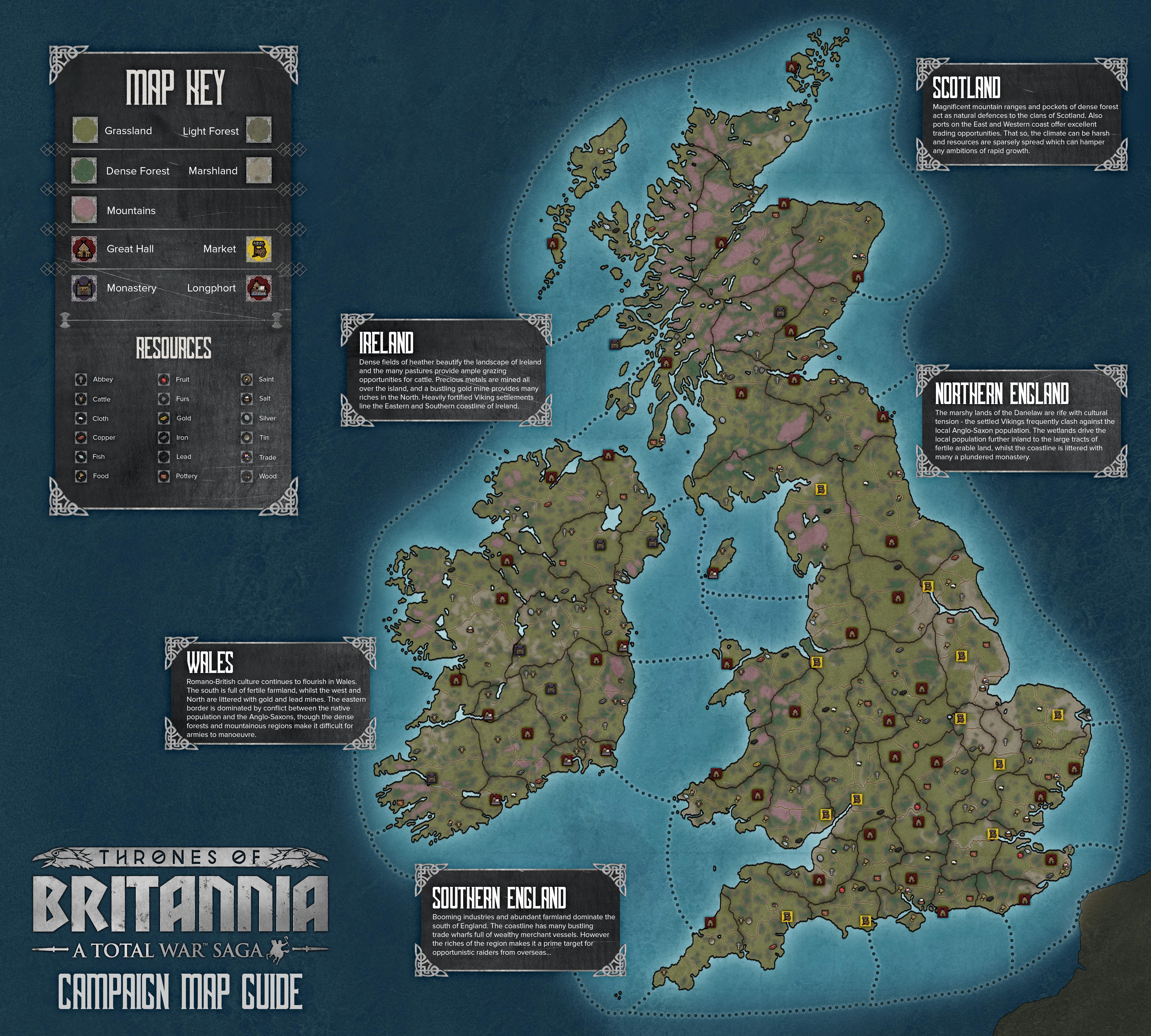 Thrones of Britannia - Campaign Map Reveal - Total War