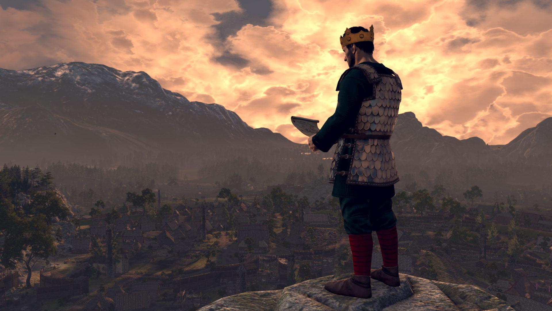King Anaraut surveying his town